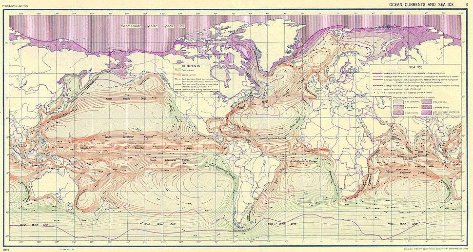 Ocean currents 1943