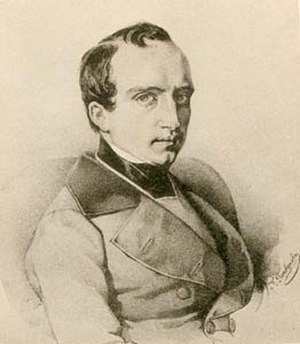 Vladimir Odoyevsky - Odoevsky in the 1840s; lithograph by Kirill Gorbunov