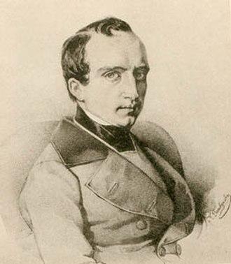 Vladimir Odoyevsky - Odoevsky in the 1840s; lithograph by Kirill Gorbunov