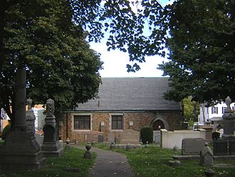 Temple Ohabei Shalom Cemetery - West side of the chapel