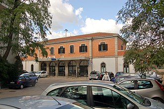 Olbia railway station - View of the passenger building.