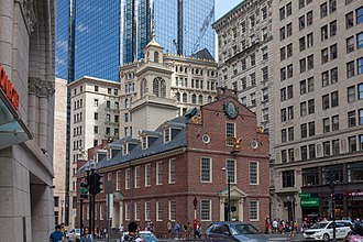 Massachusetts General Court - Old State House in Boston, seat of the General Court before the building of the current State House