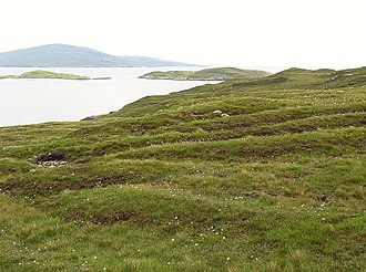 "Harris, Outer Hebrides - Old feannagan, or ""lazy beds"" on North Harris"