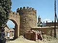 Old walls of Sighnaghi under reconstruction.JPG