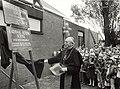 Op 5 oktober 1979 opende Kardinaal Alfrink de school voor basis onderwijs aan de Velserstraat 17. Voorheen H.Hartschool, NL-HlmNHA 54010966.JPG