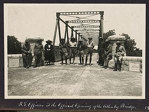 Allenby Bridge - Image: Opening of the Allenby Bridge (1918)