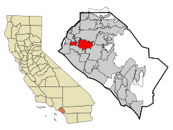 Orange County California Incorporated and Unincorporated areas Garden Grove Highlighted.svg