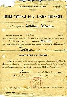 Ordre National De La Legion Dhonneur Wikipedia
