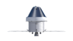 Orthographic view of Orion spacecraft, back with solar panels (22833021090).png