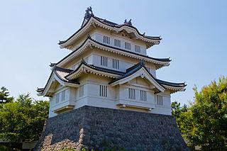 japanese castle in Gyōda, Japan