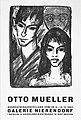 Otto Mueller - Selbstbildnis mit Modell und Maske. Galerie Nierendorf 1964.jpg