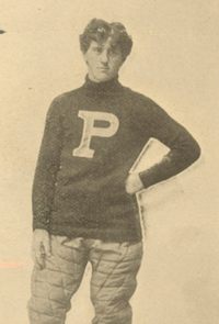 Otto Wagonhurst in his college players uniform.