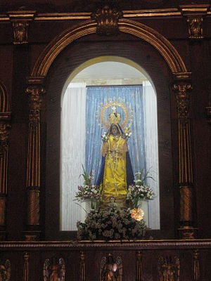 Our Lady of Piat - Our Lady of Piat enshrined in a high altar.