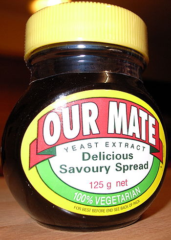 'Our Mate' - Jar of UK Made Marmite Spread bra...