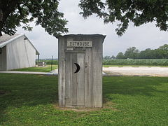 Outhouse used by sharecroppers on display Louisiana State Cotton Museum Lake Providence & Outhouse - Wikipedia pezcame.com