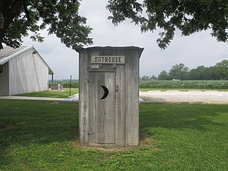 Outhouse - Outhouse used by sharecroppers on display, Louisiana State Cotton Museum, Lake Providence
