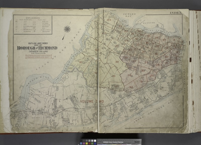 File:Outline and Index Map of The Borough of Richmond (Staten Island); Explanation; Note. NYPL1646317.tiff