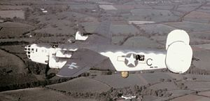 PB4Y-1 VB-110 with SCR-717 radar in flight 1943.jpg