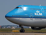 PH-BFK KLM Royal Dutch Airlines Boeing 747-406(M) - cn 25087 taxiing 21july2013 pic-001.JPG