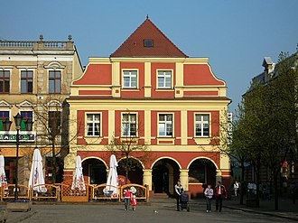 Leszno - Historic tenements on the main square