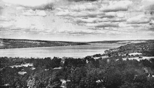 PSM V68 D390 Lake cayuga of the finger lakes from cornell university.png