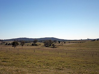 Boyland, Queensland - View northwards from Boyland Road, 2014
