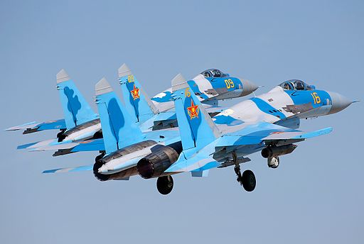 Pair of Kazakh Sukhoi Su-27P at Dyagilevo