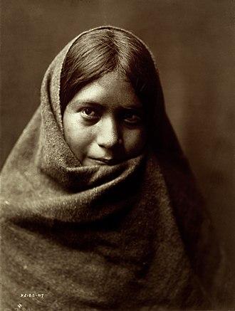 Maricopa people - Pakit, a young Maricopa woman, 1907 - Edward S. Curtis