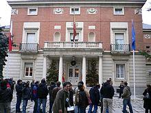 La Moncloa, residencia oficial del Presidente del Gobierno, cabeza del poder ejecutivo.