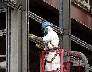 Asbestos removal with full protection and sour...