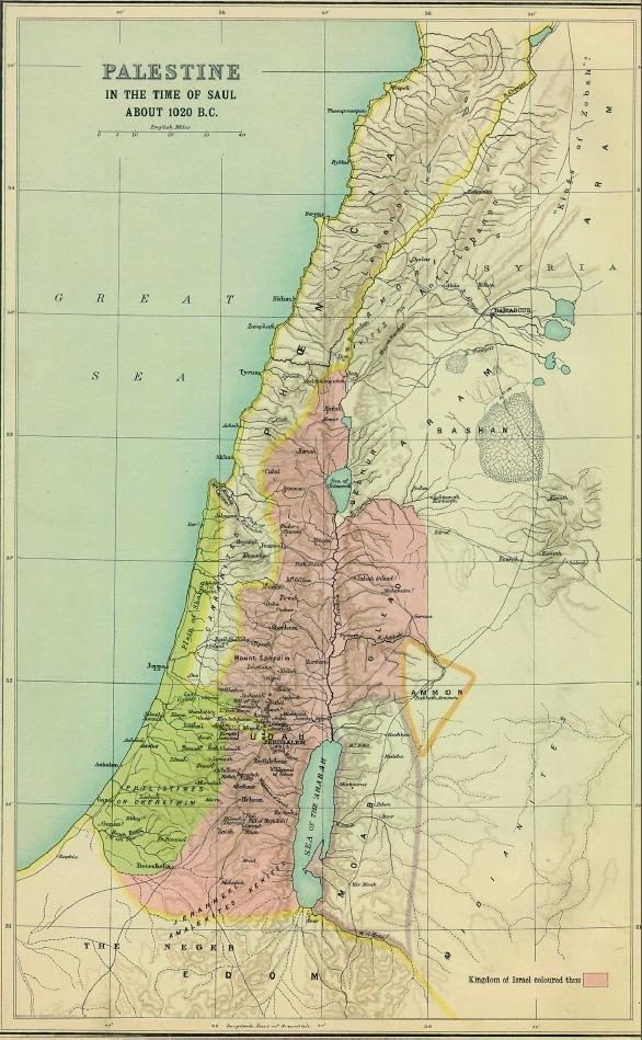 Palestine 1020BC Smith 1915