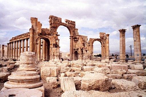 Palmira. Arco monumentale, facciata verso T. di Bel - DecArch - 1-23