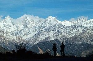 Panchchuli - Panchchuli Peaks, from near Munsiyari, Uttarakhand
