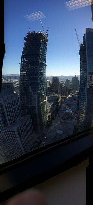 181 Fremont - Image: Panorama SF Transbay 181 S Ftwr 2016 09 16