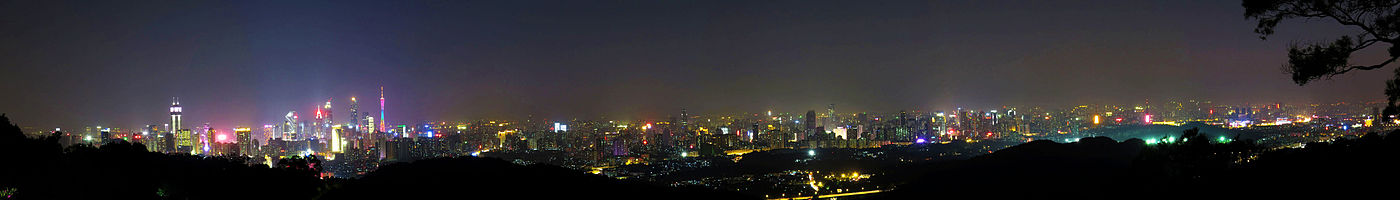 Panorama of Guangzhou at night