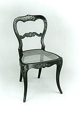 Papier-mâchè side chair