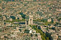 Paris, Arc de Triomphe from the Eiffel Tower, 2011.jpg