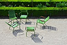 Chair wikipedia for Chaise de jardin inox