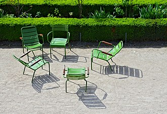 Chair - Metal chairs in the Tuileries Garden, Paris, France