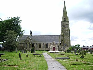 St Paul's Church, Peel - Image: Parish Church of St Paul, Peel geograph.org.uk 449240