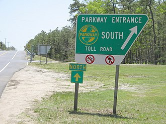 Garden State Parkway - Typical entrance sign for the parkway