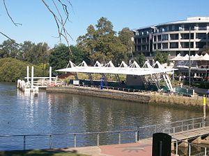 Parramatta ferry wharf - Wharf in July 2013