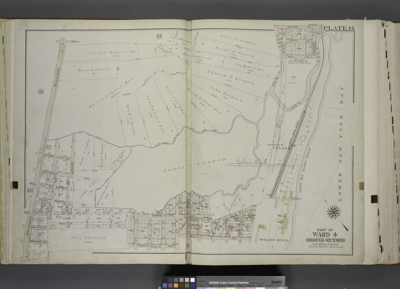 File:Part of Ward 4. (Map bound by Liberty Ave, Seaview Ave, Scotland Ave, New Creek, South Field Beach R.R., Maple Ave, 6th St, Franklin Ave, 9th St, South Side Boulevard) NYPL1646281.tiff