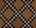 Patchwork Quilt In Double Irish Chain Pattern.jpg