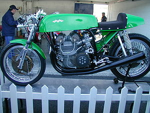 Paton (motorcycles) - The Paton 500 twin in the classic green color