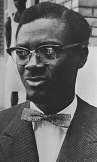 Patrice Lumumba 20th-century Congolese Prime Minister and leader