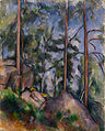 Paul Cézanne - Pins et Rochers (Fontainebleau?) - Google Art Project.jpg