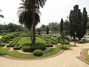 Museu Paulista - Museum of Ipiranga gardens in São Paulo.