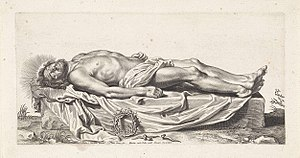 Paulus Pontius - Body of the dead Christ, after Titian