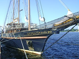 Peacemaker (ship) - Image: Peacemaker ship front